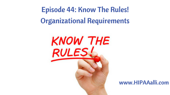 Organizational Requirements
