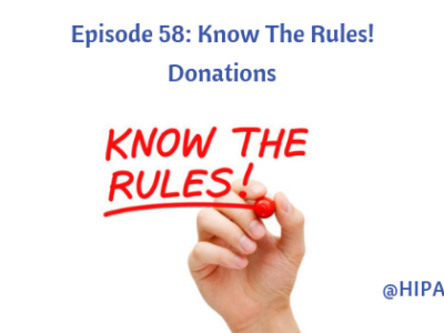 Episode 58: Know The Rules! Donations