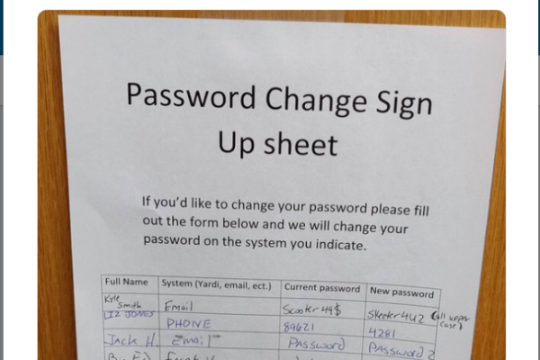 Password Signup Sheet